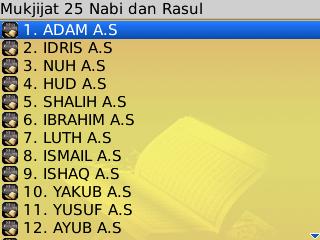 25 Nabi dan Rosul 2