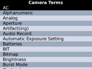 Camera Terms 2