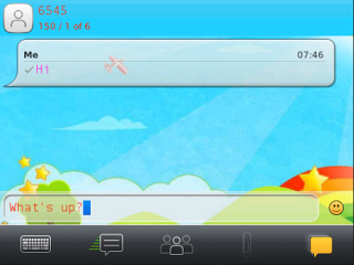 Cute Pink Doodle SMS viewer 2
