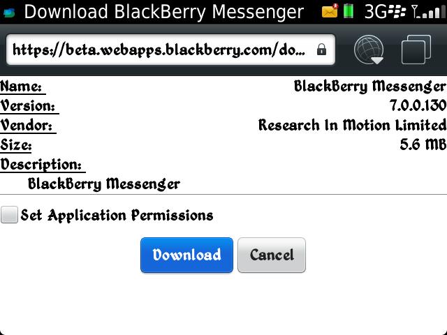 Download BBM Beta LEAKED? v700101 OS5-7x